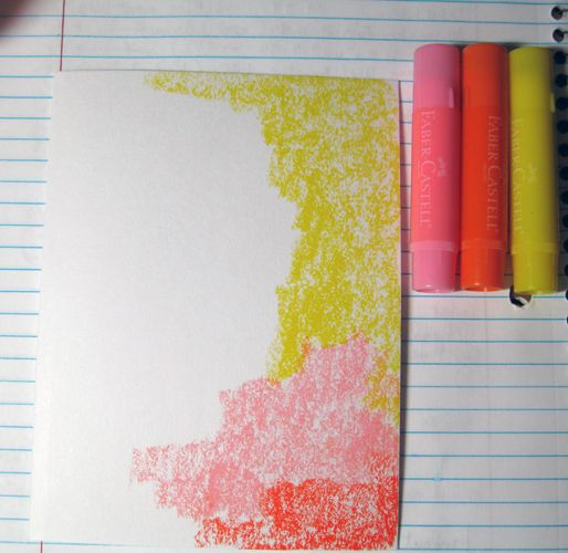 Hi everyone, Mou Saha here with a page from my art journal creaed with Faber Castell Gelatos, Essential Tool Kit. Stamper's Big Brush pen, and Artists' PITT® pen. I started with mixed media paper cut, folded and stitched to make booklets. I rubbed yellow, pink and orange Gelatos along the...