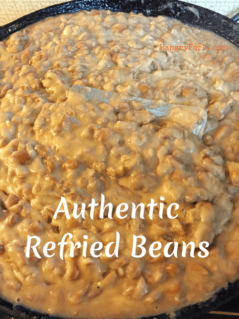 How To Make Authentic Refried Beans Hangry Fork Recipe Refried Beans Recipe Refried Beans Mexican Food Recipes Authentic