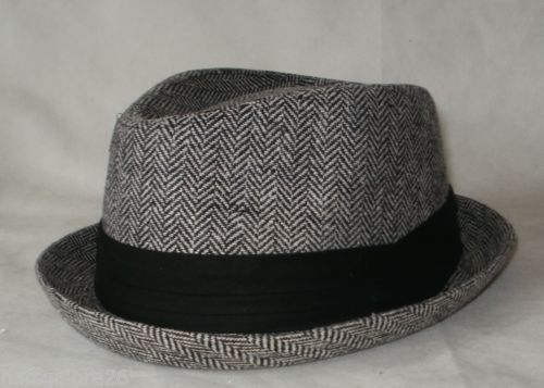 026cf0c66 Details about PORK PIE TRILBY HAT OLLY MURS STYLE NARROW UPTURNED ...