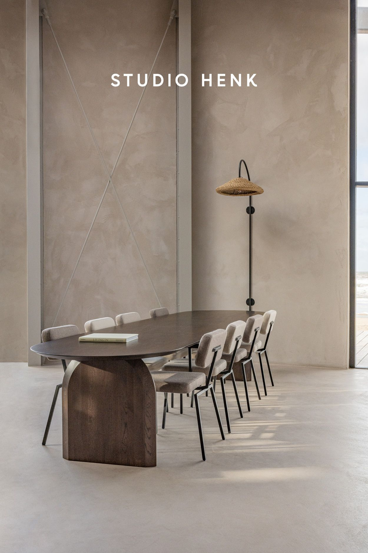 Discover the Slot dining table in smoked oak