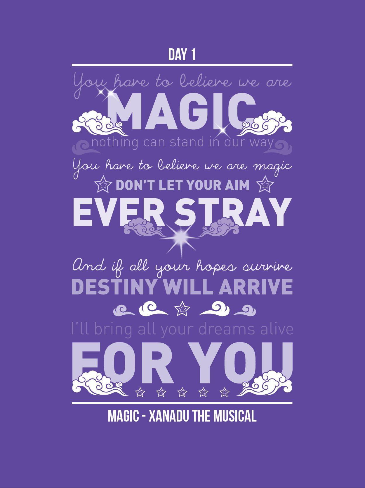 Day 1 Magic 30 Days Of Lyrical Typography Http Wp Me P45g5z X Via Wordpress Com