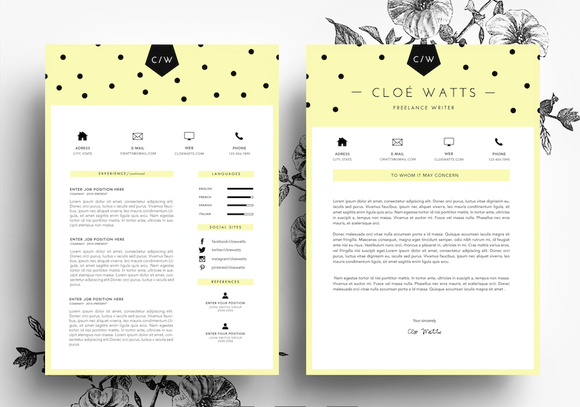 Resume And Business Card Template Creativework247 Perfect Resume