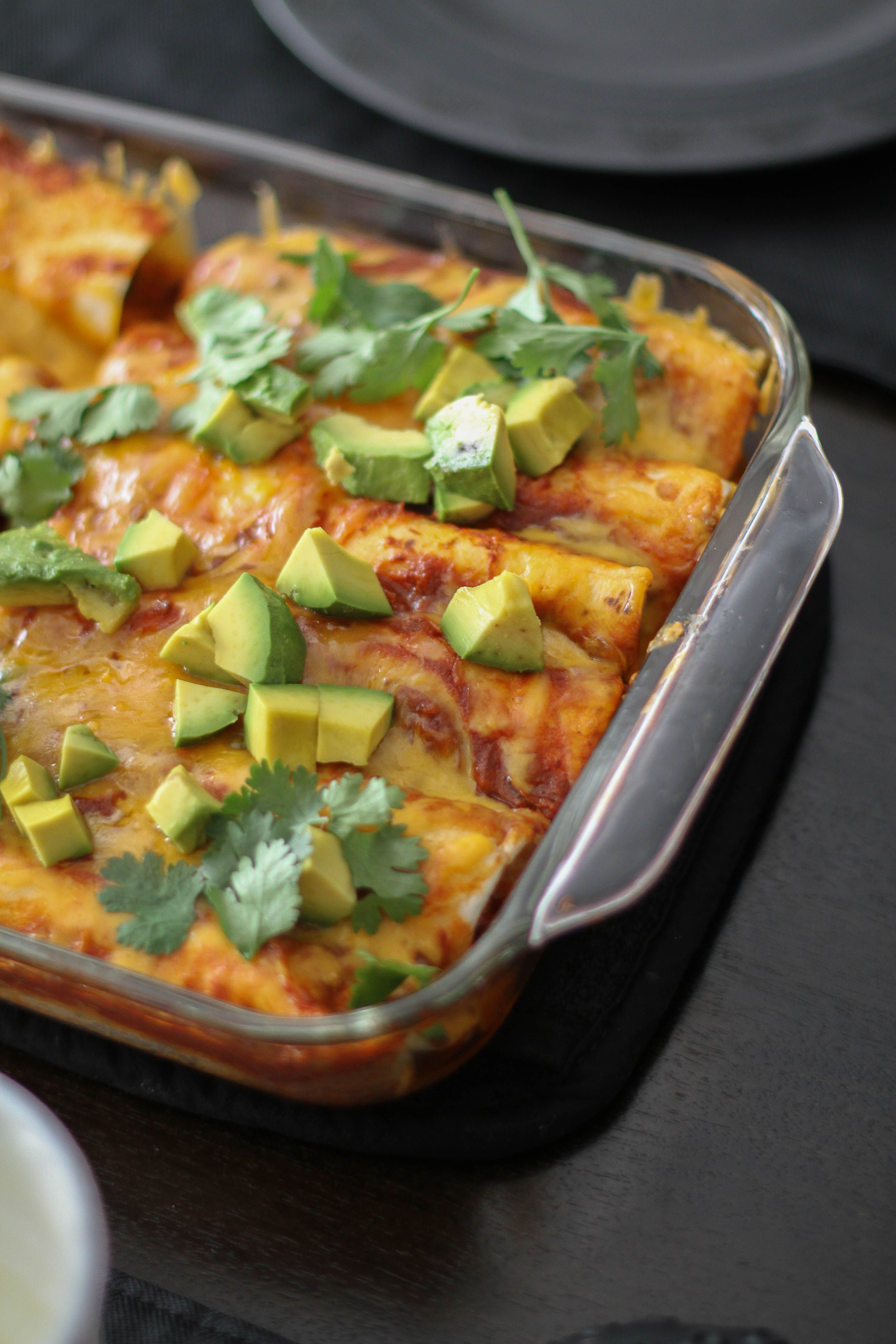 MakeAhead Chicken Enchiladas with Red Sauce Poultry
