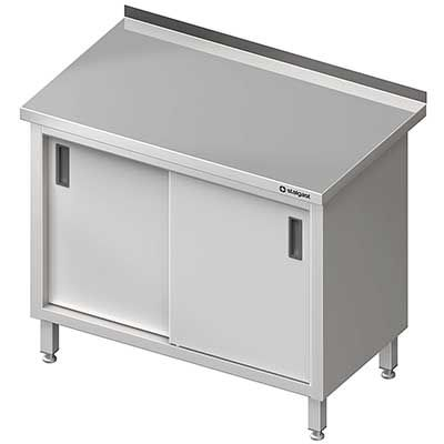 Stół przyścienny z drzwiami suwanymi  MEBLE NIERDZEWNE http://cws.com.pl/oferta/55?search=&order=i.ordering&dir=asc&cm=0#tlb  #meble_nierdzewne