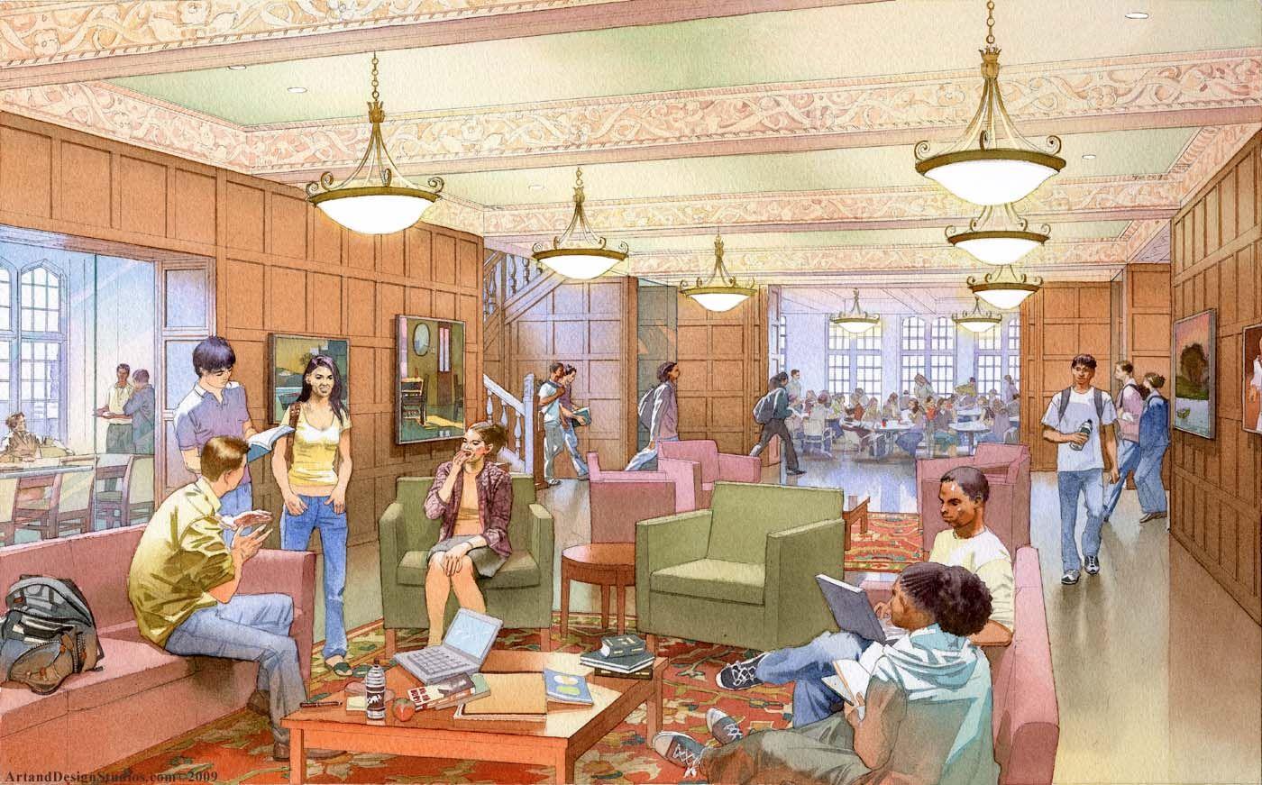 UPenn University interior rendering