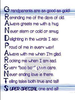 Grandparent's Day Poem for Performance/Recitation #grandparentsdaycrafts