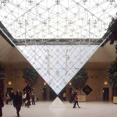 Detail Louvre Pyramid Paris France By I M Pei 1989