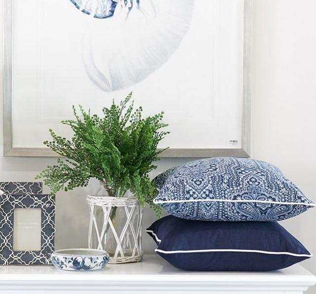 Hamptons Style Indoor Cushions (Australian Made) – Thread ...  |Hampton Style Indigo
