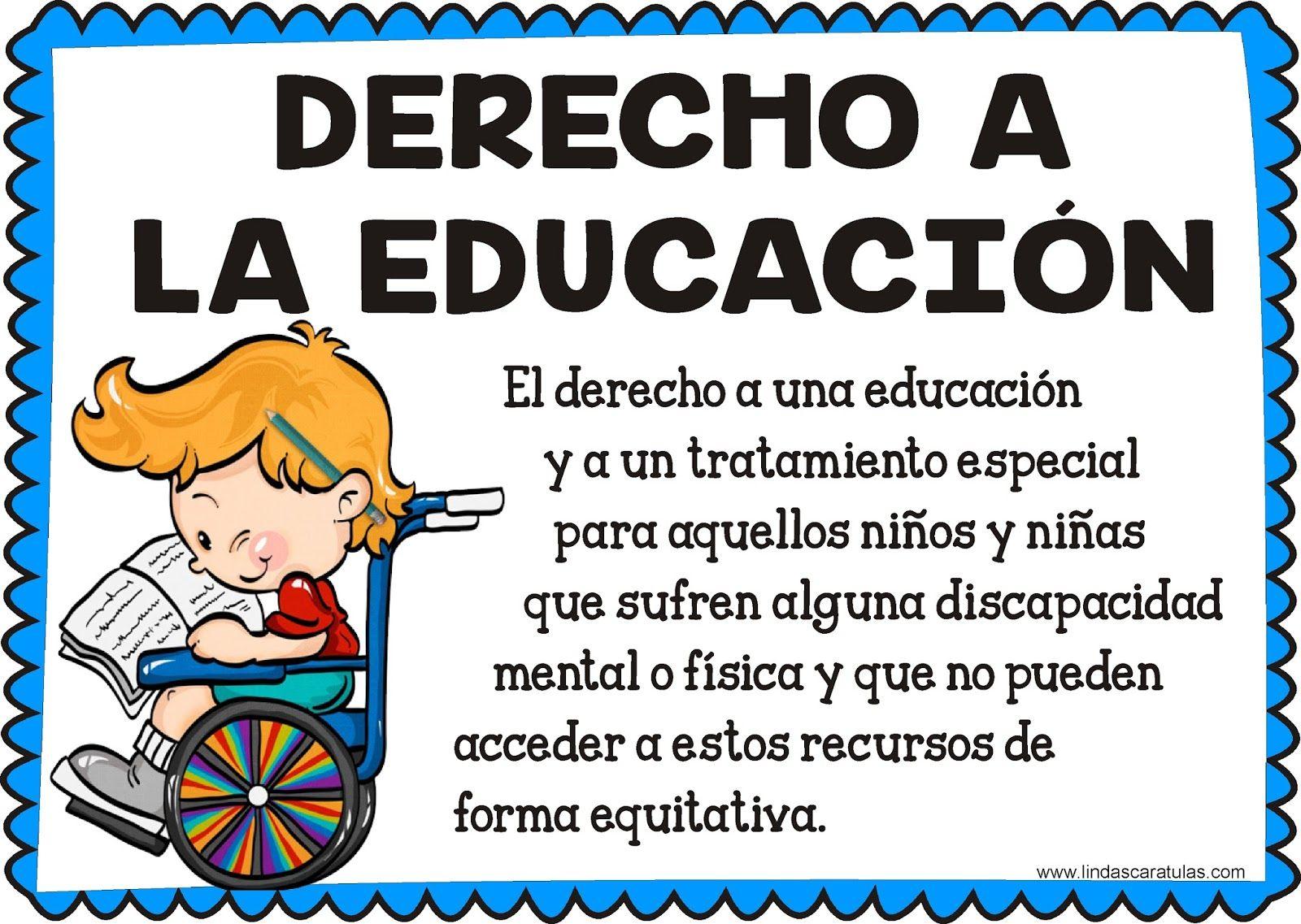 Lindas Caratulas Derechos Fundamentales Del Niño Y La Niña Imagenes De Los Derechos Derecho A La Educacion Derechos Humanos Para Niños