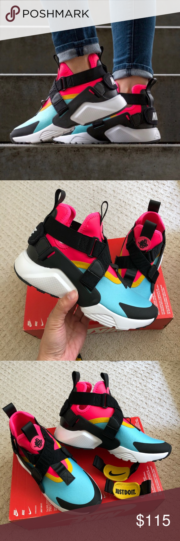 new style 43dee dac80 New🌧 NIKE Air Huarache City ~ various sizes brand new no lid bleached aqua  black racer pink comes from smoke free home 100% authentic A18000062    J71 43 ...