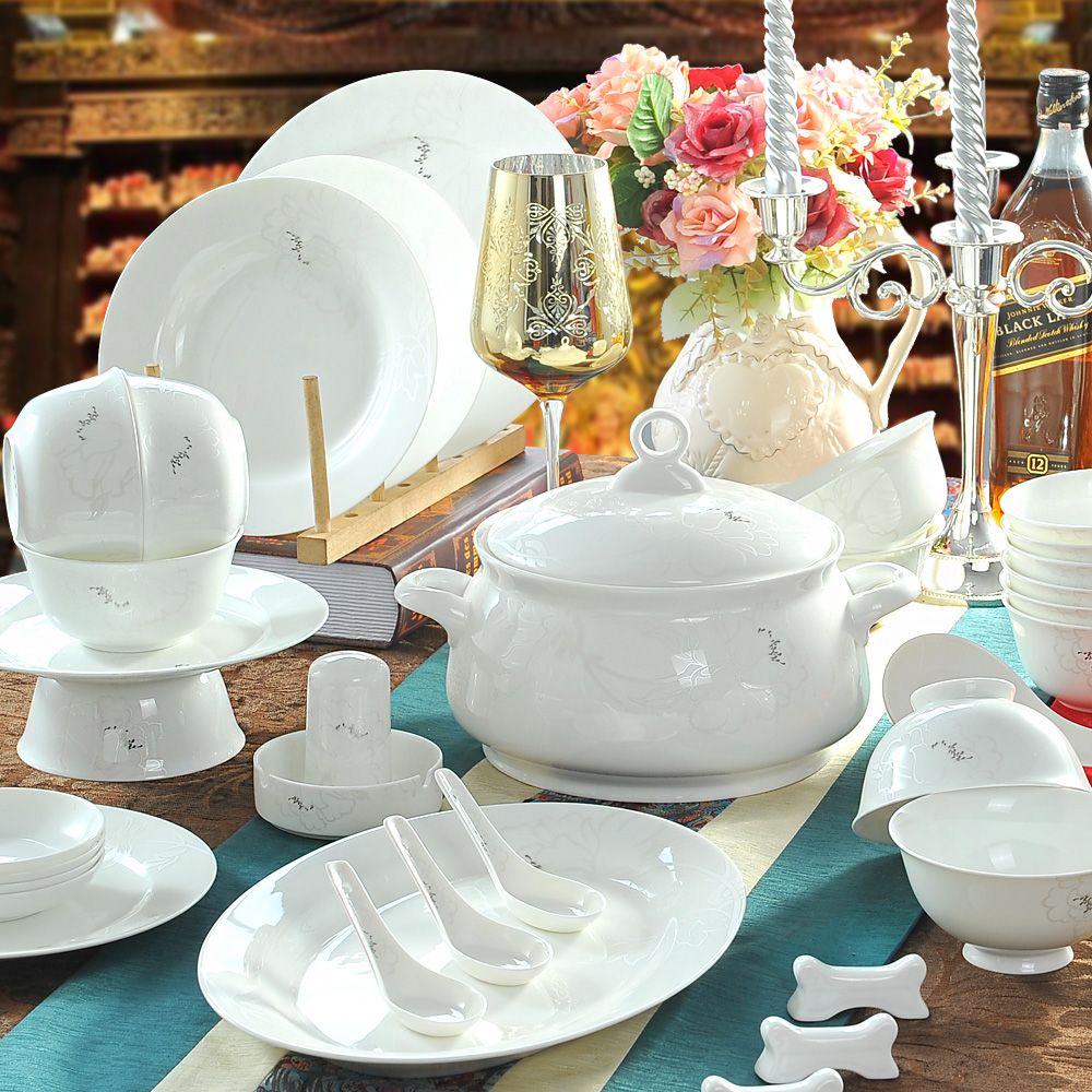 Aliexpress Com Buy 56 Bowl Bone China Dinnerware Set Guzhici Dishes Jingdezhen Ceramic Tablewar China Dinnerware Sets Ceramic Tableware Bone China Dinnerware