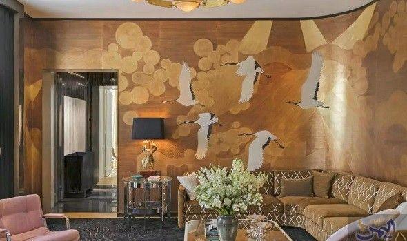 الثريات النحاسية المضيئة المثيرة أهم الاتجاهات الجديدة للتصميمات الداخلية يؤك د خبراء التصميم أن تجدي Chinoiserie Wallpaper Wallpaper South Shore Decorating