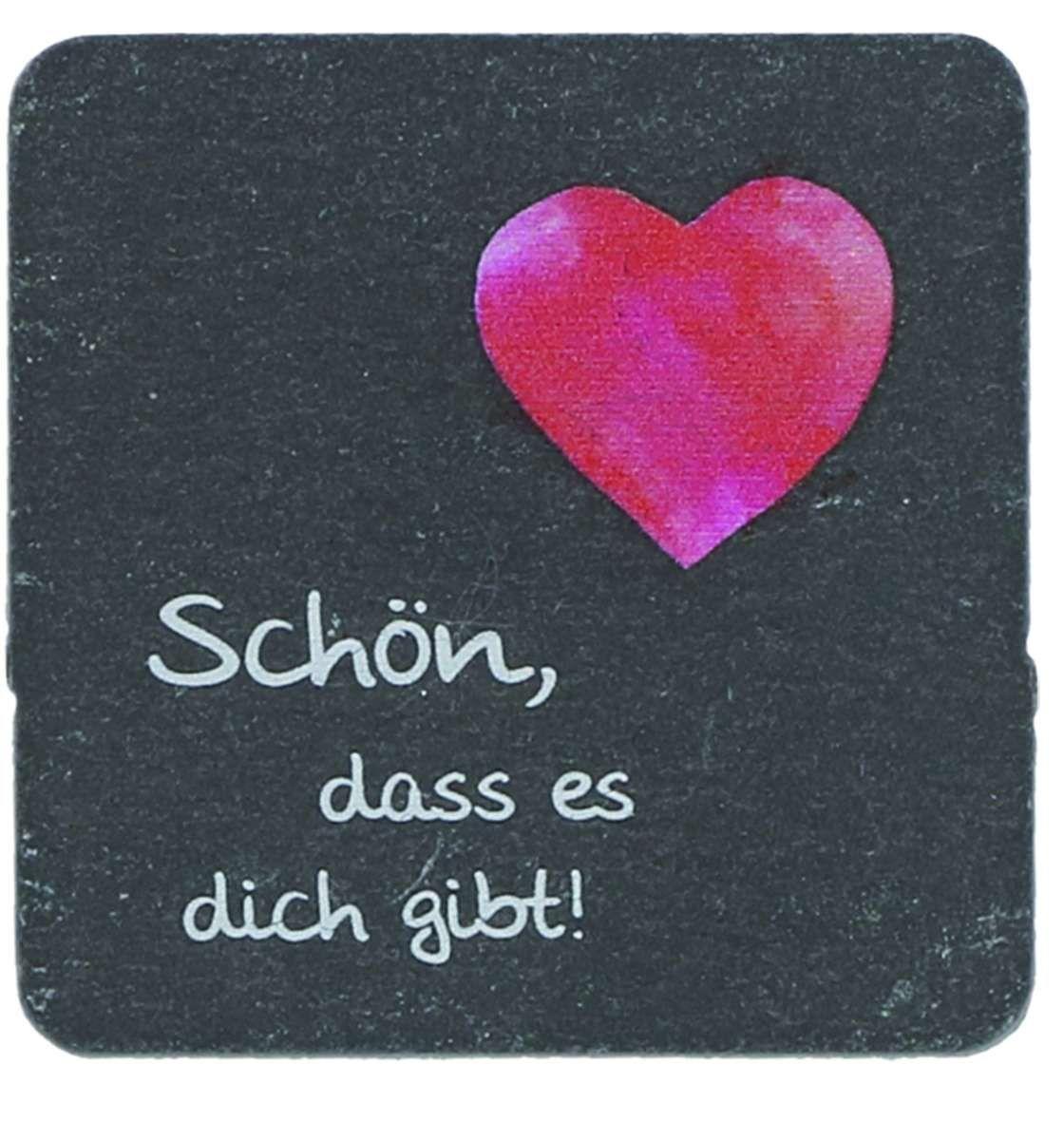 SchieferMagnet Schön, dass es dich gibt! | Valentines