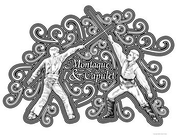 Romeo Juliet Shakespeare Coloring Pages Coloring Pages