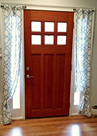 Diy side light curtains curtain door window and doors for Side door window coverings