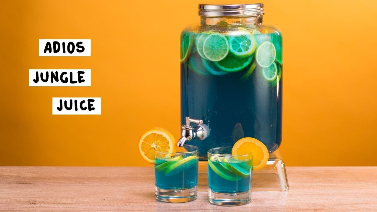 Adios Jungle Juice Tipsy Bartender Recipe In 2020 Jungle Juice Blue Jungle Juice Recipe Tipsy Bartender