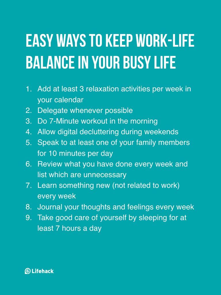 9 small things you can do to make sure worklife balance