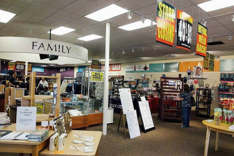 Christian bookstores are almost gone something important