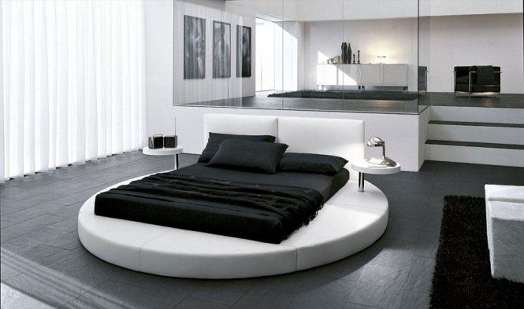 Contemporain noire et blanche chambre à coucher design6 | Design ...