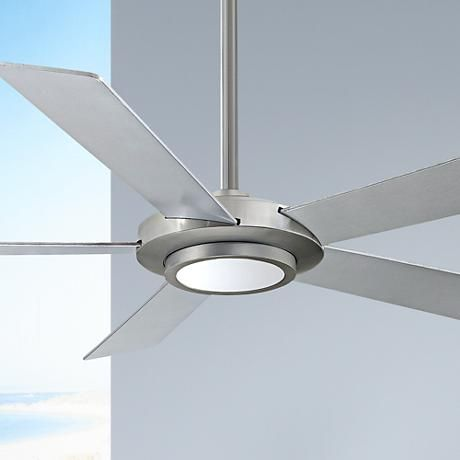 52 minka aire sabot brushed nickel led ceiling fan 8p781 lamps plus