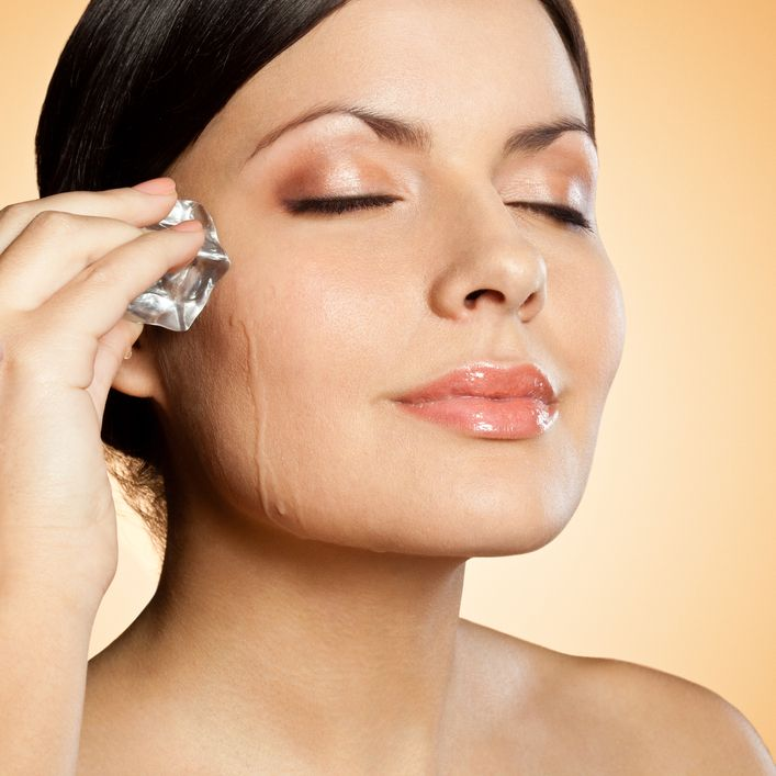 Beauty hack! Massage an ice cube on your face until it melts. This ...