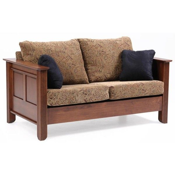 Amish Loveseats   Amish Arlington Loveseat ($1,592) ❤ liked on Polyvore featuring home, furniture, sofas, brown couch, hand made furniture, brown loveseat, handcrafted amish furniture and brown sofa