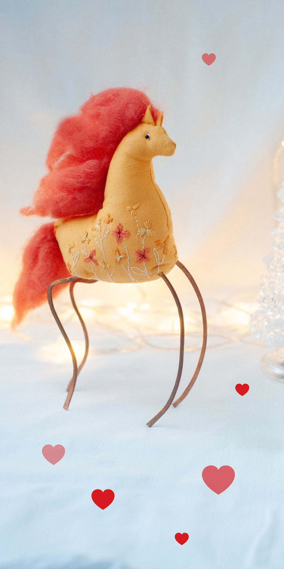 Puppet Christmas Decor Horse Toy With Embroidery Textile Etsy In 2020 Christmas Figurines Christmas Decorations Christmas Ornaments Homemade
