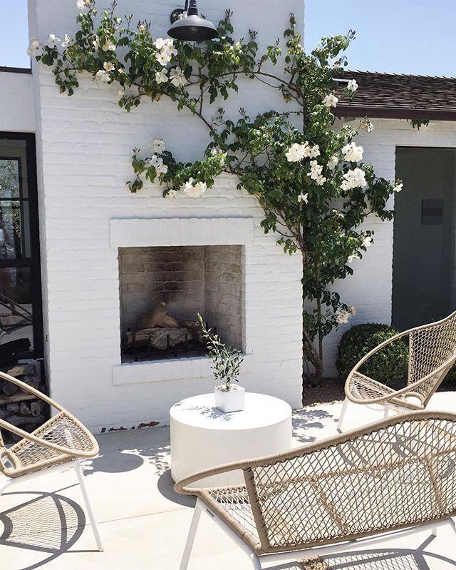 modern patio fireplace h o m e s s p a c e s pinterest