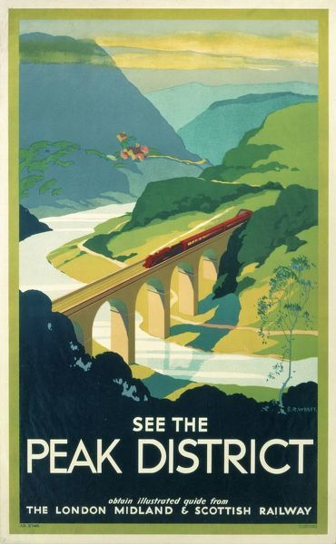 Print of See the Peak District, LMS poster, 1923-1947