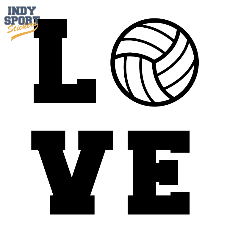 Volleyball Love Car Stickers And Decals Stickers Love Stickers Decals