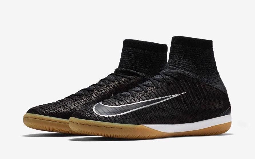 7a2f12a36245 Nike Mercurialx Proximo II TC IC Soccer Shoes Mens 9.5 Black Silver 852537  001 #Nike #Soccer