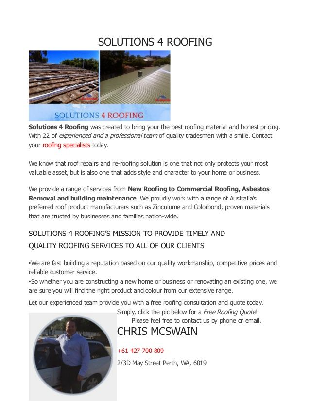 Perth S Award Winning Roofer Roofer Roofing Specialists Roofing
