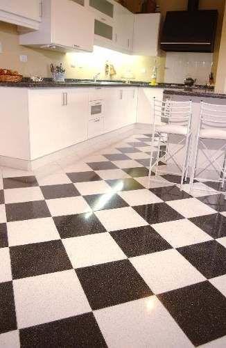 Damero mosaico gran tico 30x30 blanco y negro for Antideslizante para pisos