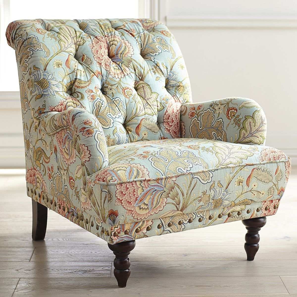 Best Chas Blue Floral Armchair Furniture Armchair Blue Armchair 400 x 300