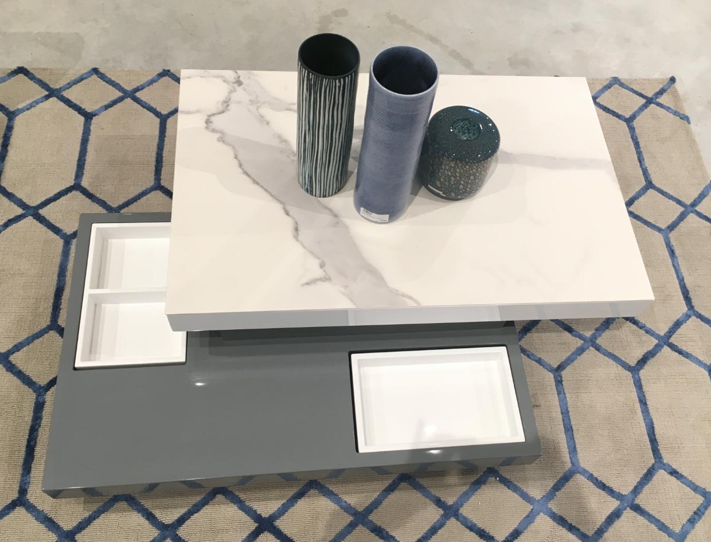 Table Basse Pivotante Sigma Plateau Mobile En Ceramique Socle En Medium Laque Gris Ceramique Table Basse Plateau