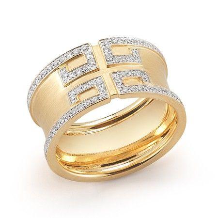 Ivanka Trump 18k Yellow Gold Metropolis Band Ring with ...