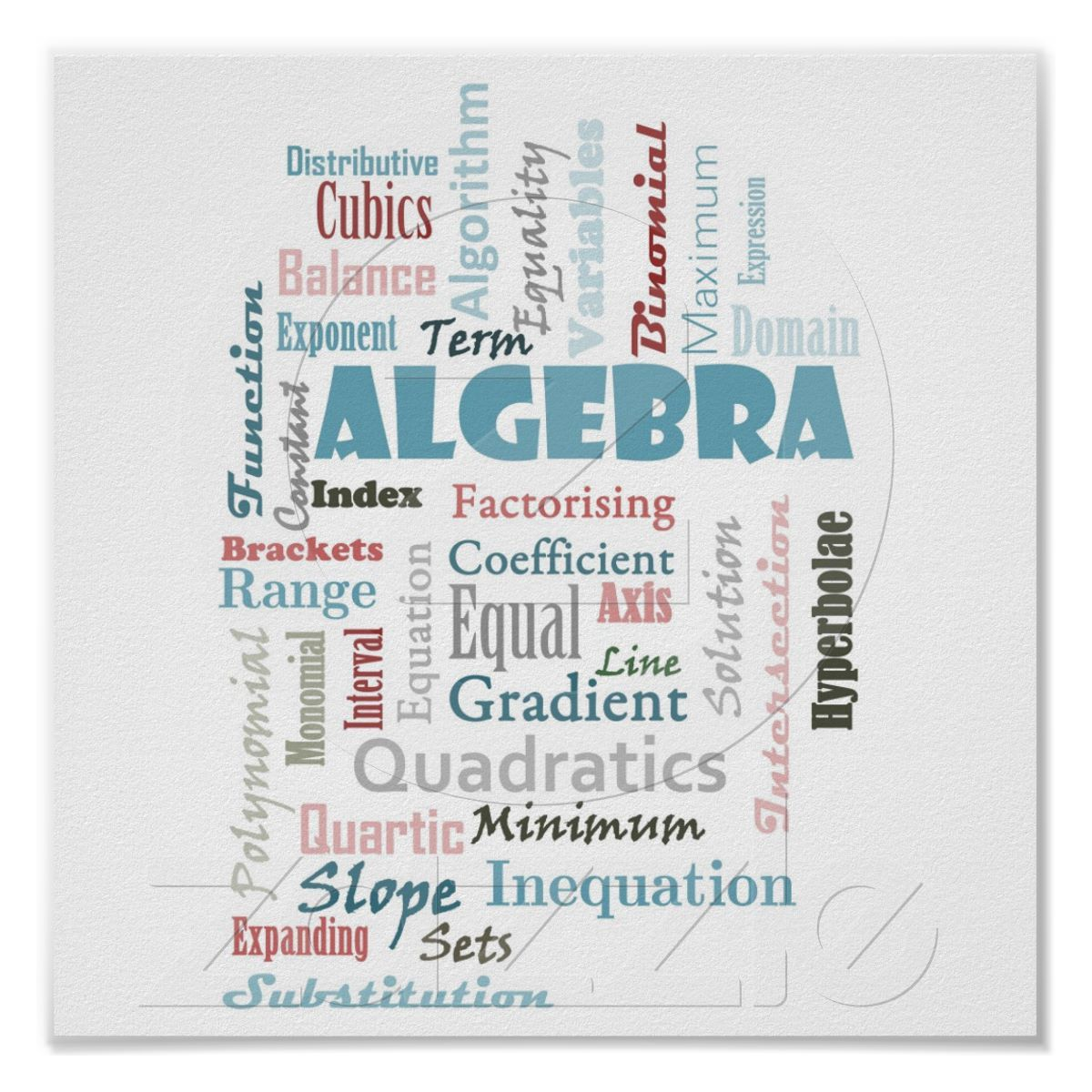 Algebra Display Poster