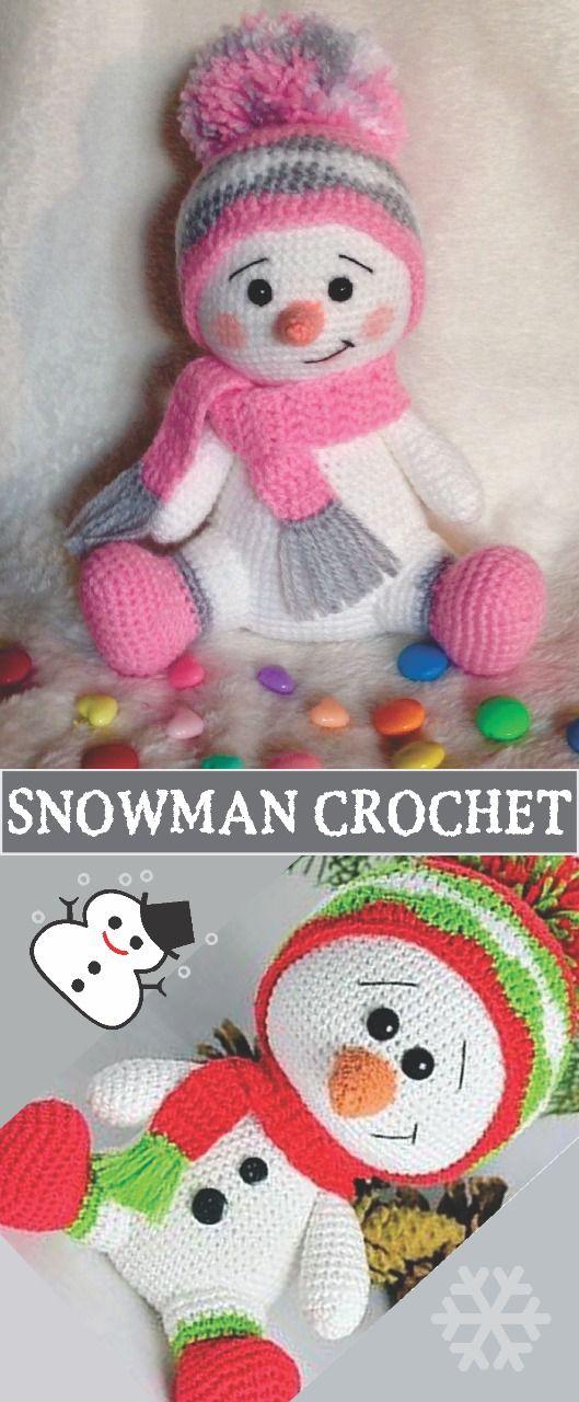 Snowman Crochet Pattern Free #cutecrochet