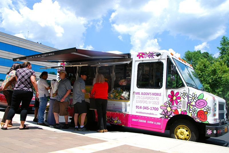 Blooms Mobile Is A Terrific Flower Truck That Can Be Parked Outside Your Event Surprise Guests With An Exit Treat They Will Never Forget
