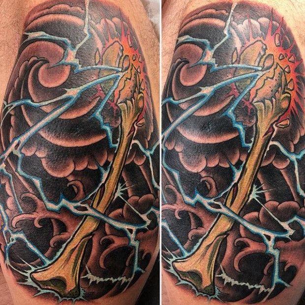 The Shocking Revelation Of Japanese Lightning Tattoo Japanese Lightning Tattoo Lightning Tattoo Japanese Tattoo Cloud Tattoo