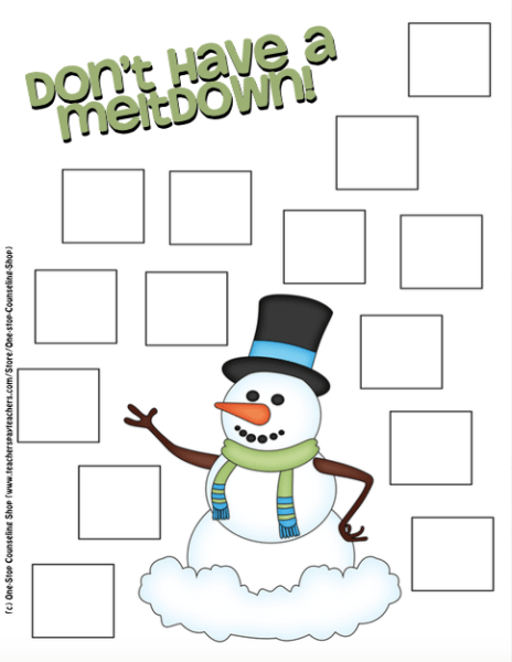Snowman Coping Skill Activity | Coping skills | Pinterest | Coping ...
