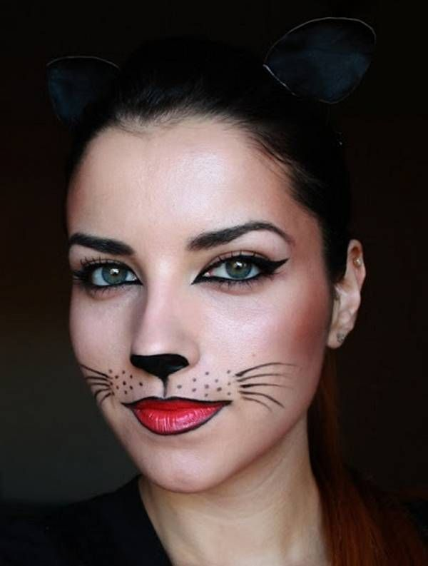 Maquillage halloween toutes nos inspirations chats - Maquillage chat femme ...