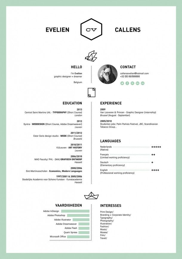 Resume By Evelien Callens  Reference Documents