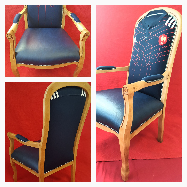 Voltaire Version Sport Garniture Contemporaine Assise Tissu Skai