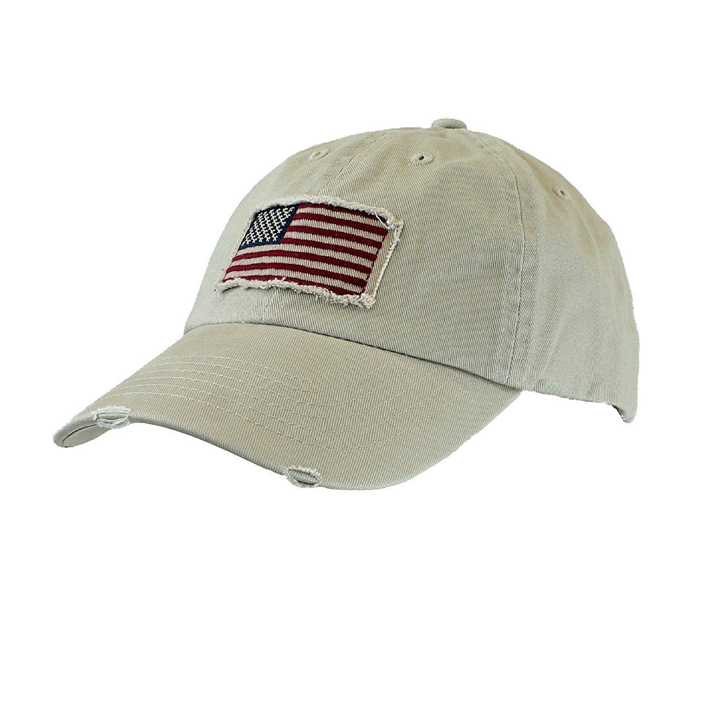 Dorfman Pacific Men S Twill Usa American Flag Baseball Cap Hat Khaki Check Out This Great Image Fashion Hats Vintage Baseball Cap Khaki