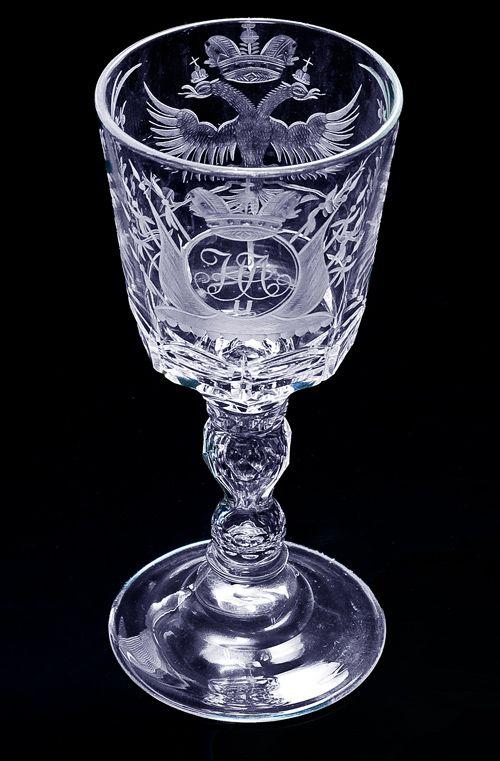 ar ruso Nicolás II copa de vino desde el palacio Imperial 1917
