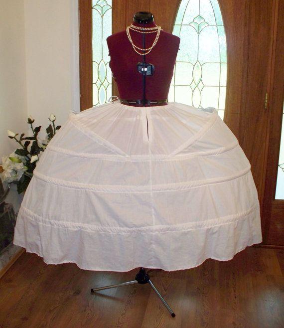 Handmade Pannier Side Hoop Skirt for Marie Antoinette Style Skirts Dresses