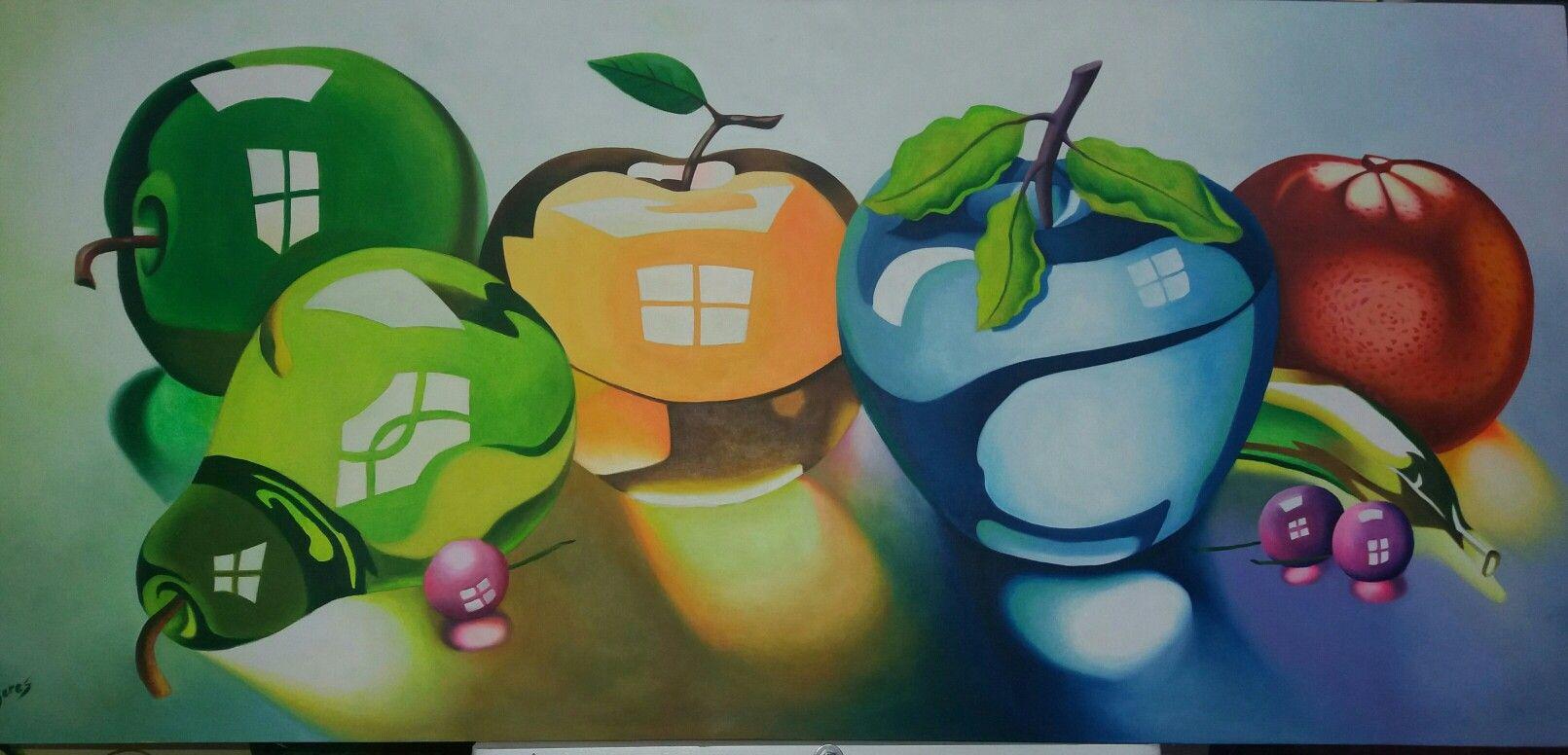 Frutas de cristal al oleo Frutas cristal oleo Pinterest 3d