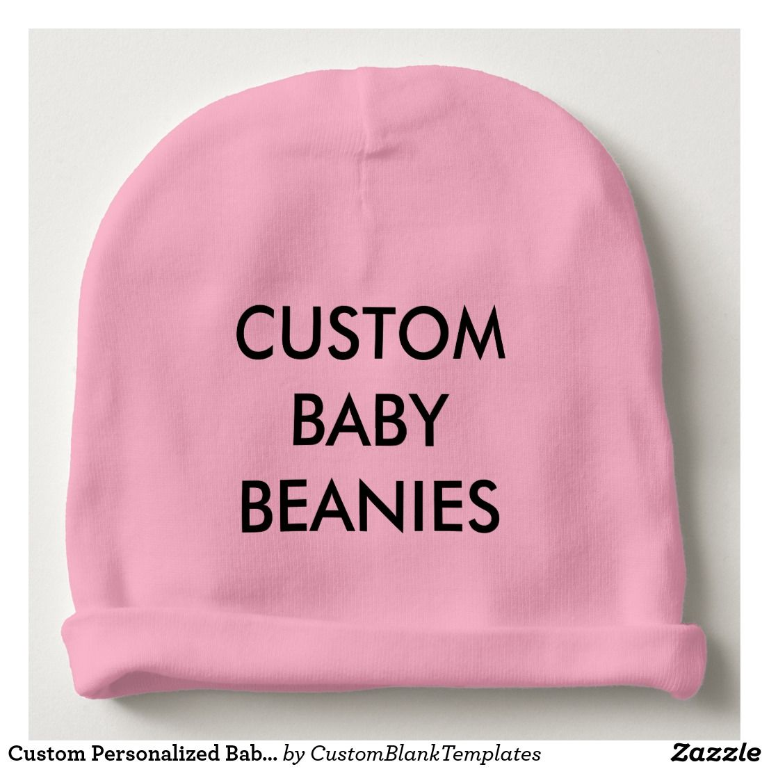 Custom Personalized Baby Beanie Hat Blank Template | Baby beanie hats