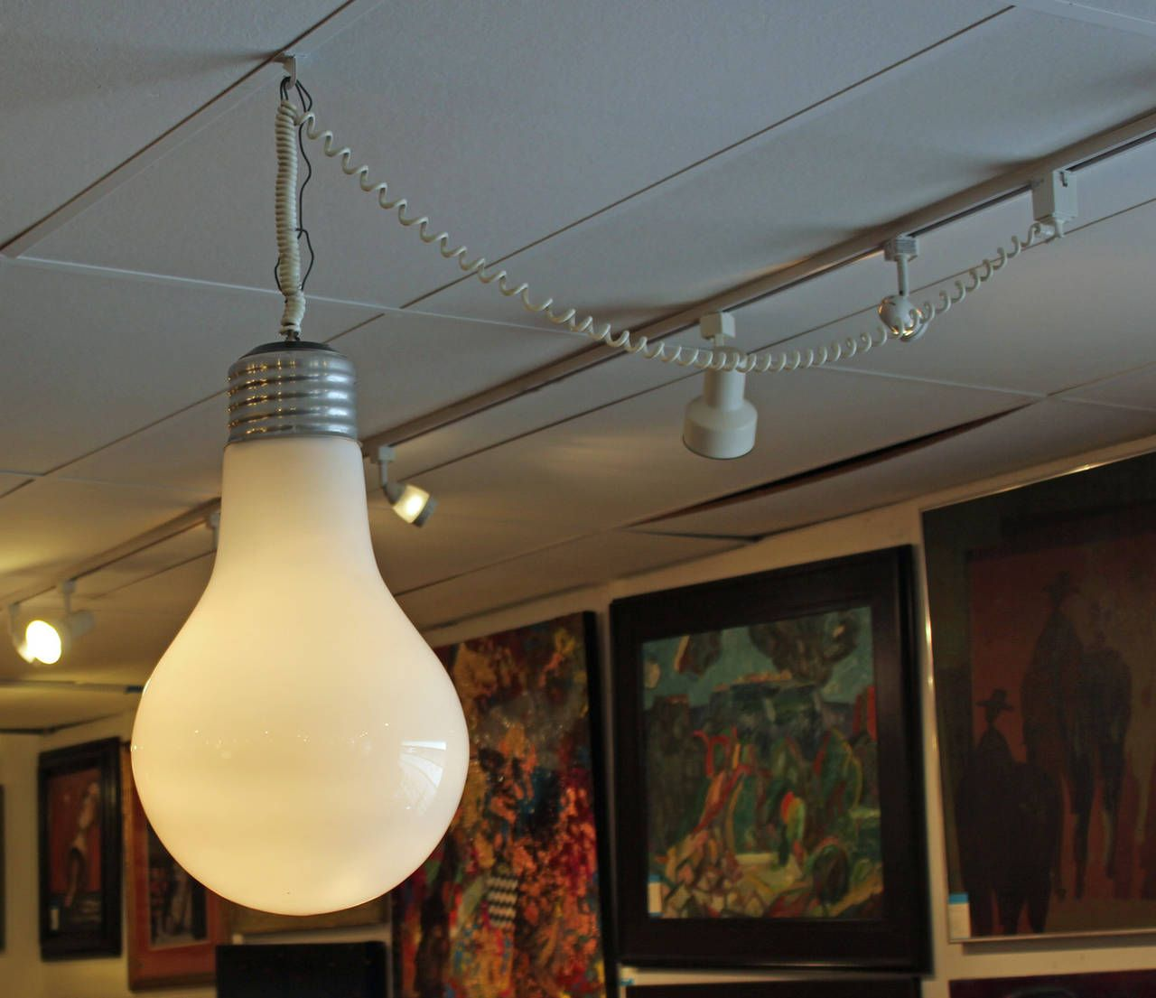 Giant Light Bulb Pendant Hanging Light Fixture From A Unique